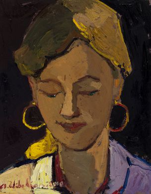 Areg Elibekian, Woman with golden earrings